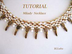 Tutorial Milady Super Duo Necklace PDF by BeautyGlamourLuba, $9.20