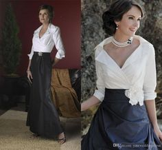 Black And White Elegant Mother Of The Bride Dresses Long Sleeves Floor Length Taffeta Mermaid A Line Formal Dress Evening Gowns 2016 Spring Adrianna Papell Mother Of The Bride Dresses Affordable Mother Of The Bride Dresses From Yateweddingdress, $110.65| Dhgate.Com