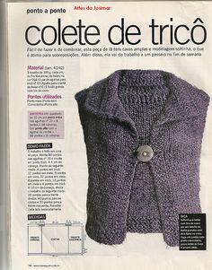 MANUAL DAS ARTES SOL: Receitinha fácil de trico