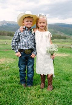 country living - wedding attire for flower girl and ring bearer