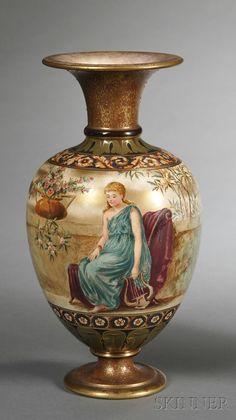 Doulton Burslem Hand-painted Vase, England