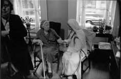 Dorothy Day and Mother Teresa. Fantastic article on when they met in 1970: http://oldarchive.godspy.com/faith/Mother-Teresa-and-Dorothy-Day-Two-Radical-Women.cfm.html