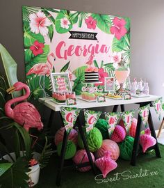 Image result for flamingo party