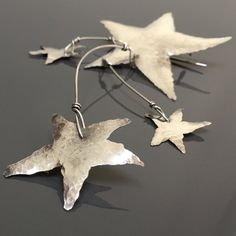 BIG STAR brooch statement sweater pin sterling by MetalObjects