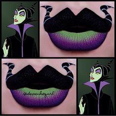 Amazingly creative Maleficent lips!