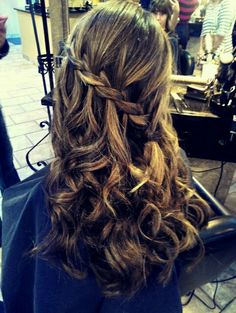 My hair for winter formal. :) but instead of down pulled into a low low messy bun
