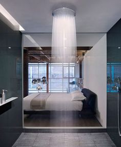 Waterfall shower! Wow!