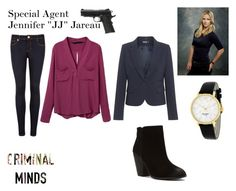 Criminal Minds - JJ by singerbrie17 on Polyvore featuring Ted Baker, Report and Kate Spade