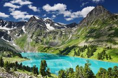 Mountain lake by muha0445 4reigndestinations.tumblr.com #Travel #Mountains