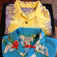 I just discovered this while shopping on Poshmark: Two silk Hawaii shirts. Check it out! Price: $25 Size: XS, listed by sbw1252