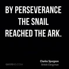 Charles Spurgeon Quotes - By perseverance the snail reached the ark. Quotable Quotes, Faith Quotes, Bible Quotes, Me Quotes, Happy Quotes, Great Quotes, Inspirational Quotes, Motivational, Ch Spurgeon