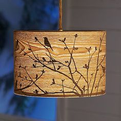 culture vulture lampshade (DIY?- paint silhouette)