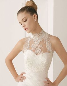 wedding dresses with lace top, and add sleeves.