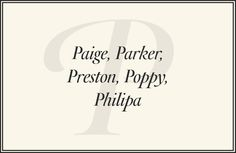 The Preppiest Baby Names from A to Z