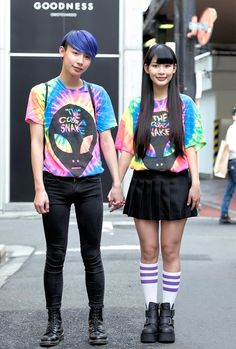 Michi and Yoshiaki caught our eye on the street in Harajuku with their colorful matching tie-dye. We found out that they are brother and sister and th...