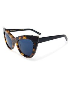 D2U5Q Pared Eyewear Puss and Boots Cat-Eye Sunglasses, Brown Tortoise