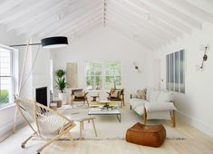 beautifully simplified living room | light and airy house tour on coco kelley