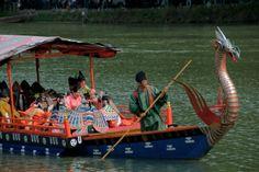 Dragon head boat of Mifune Matsuri in Kyoto (龍頭船)