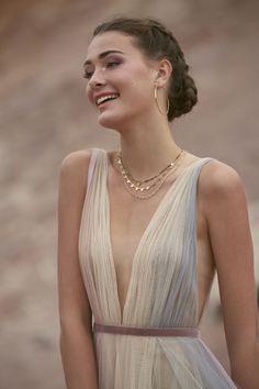 Shop designer bridal gowns like the Hutton dress by Willowby and other bridal accessories at Blush Bridal. Rainbow Wedding Dress, V Neck Wedding Dress, Classic Wedding Dress, Tulle Wedding, Bridal Wedding Dresses, Boho Wedding, Western Wedding Dresses, Blush Bridal, Fashion Moda