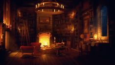 fireplace library rain ancient relaxing crackling sounds thunder study sound thunderstorm sleep sleeping ambiance secret