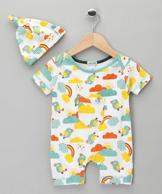 Take a look at this Funky Bird Romper & Single-Knot Beanie - Infant by Lilly & Sid on #zulily today!