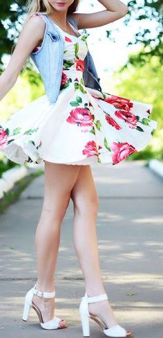 Rose Swing Dress + Chambray <3