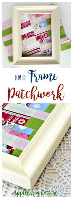 How to frame a piece of fabric patchwork to make your crafting corner even prettier! It's an easy DIY for sewing enthusiasts - put your beautiful mini quilts on display and decorate your home like a pro! Popular pins!