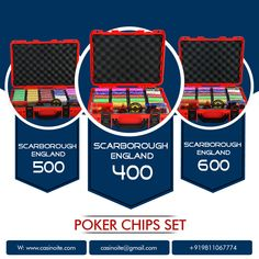 Clay Poker Chips, Poker Chips Set, Poker Set, Scarborough England, Arcade Games, Party Themes, Lunch Box, Link, Bento Box