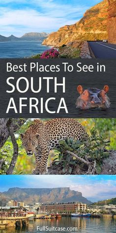 Top places to visit in South Africa that you shouldn't miss. Find out! africa destinations 17 Amazing Places to Visit in South Africa (Best Of! South Africa Map, Visit South Africa, South Africa Honeymoon, South Africa Safari, Cape Town South Africa, Africa Destinations, Travel Destinations, Beautiful Places To Visit, Cool Places To Visit