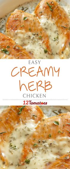 Creamy Herb Chicken: This creamy, herb chicken is really yummy, but the beauty of it is that it's one package of spreadable cheese that makes up the heart of the dish. Instead of laboring over a finicky cheese sauce, you can melt this one down and be good to go!