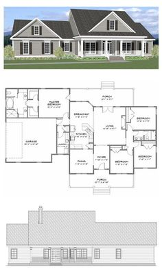Plan SC-2081: 4 bedroom 2 bath home with a study. The home has 2081 heated square feet. This plan along with many others is available for purchase online at stevecoxinc.net - All plans are available now, please contact us for more information.
