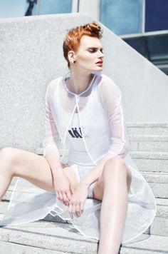 hair : Petr Heidinger visage : Aneta Ložková models : Nela Zelenková, Klá Ra backstage & video : Miky Arsenjev Polaroids