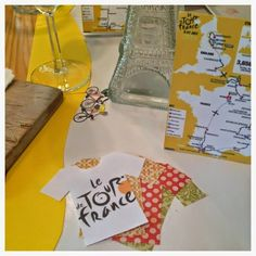 #TableSettingIsMyLife: Tour de France 2014 Tour de France jerseys, cycling themed brunch, French bicycle