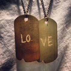 "good hYOUman ""LO-VE"" Dogtags 
