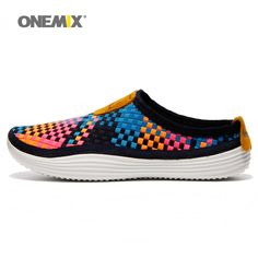 6f323d3893c Onemix 2016 Men's running shoes breathable weaving walking shoes outdoor  candy color lazy womens shoes free shipping 1101-in Running Shoes from  Sports ...