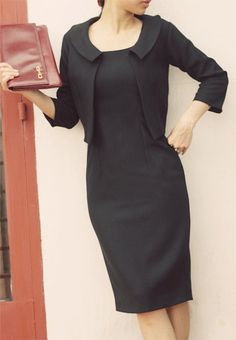 JD2: chaqueta y vestido personalizado hecho a lápiz Vestido de