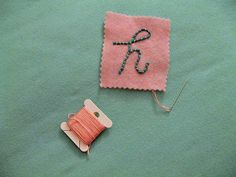 use yarn to line the stiches