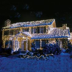 These Outdoor Christmas Lights Are Twice As Bright Regular Leds Have More Per Ft And Sure To Make Your Home The Envy Of Neighborhood