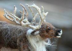 Needle felted animals. Needle Felted Reindeer. by darialvovsky, $172.00