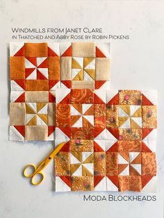 Moda Blockheads Windmills from Janet Clare in Robin Pickens fabric