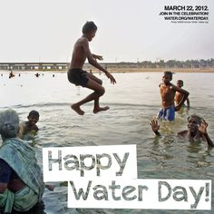 World Water Day is coming up! Mar. 22...Repin this and check out water.org/waterday for info on how to celebrate and get involved!