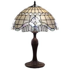 Tiffany-style Pearl White Baroque Table Lamp - Overstock™ Shopping - Great Deals on Warehouse of Tiffany Tiffany Style Lighting