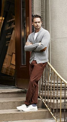 'Suits' actor Patrick Adams wearing The Kennedy Chino of Club Monaco