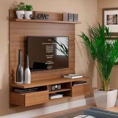 Living room tv wall decor tv shelf 19 new Ideas Tv Unit Decor, Tv Wall Decor, Tv Wall Design, House Design, Tv Design, Home Living Room, Living Room Decor, Kitchen Living, Modern Tv Wall Units