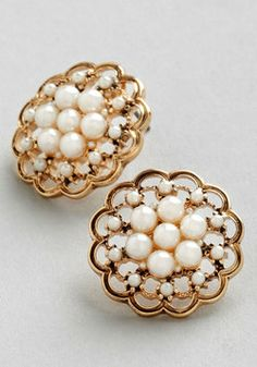 Lustrous Clusters Earrings, #ModCloth