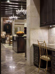 Luxury Modern Country Home in Clean Lines Design: Striking Spanish Oaks Hacienda Interior View Mediterranean Hallway Design