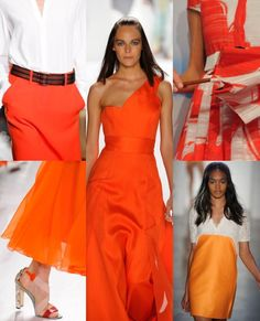 A very summery orange was predominant in the New York fashion shows that showcased summer 2013 fashion trends.