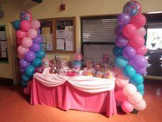 Abby Cadabby Candy Station   www.just2party.com Sesame Street Birthday Cakes, Sesame Street Party, Elmo Party, Fiesta Party, Baby 1st Birthday, Birthday Parties, Birthday Ideas, Abby Cadabby, Doc Mcstuffins Birthday