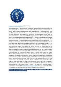 Registro de marcas argentina 011-4747.4464