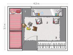 Plano del dormitorio